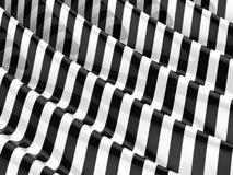3d Rippled monochrome stripes Stock Photo