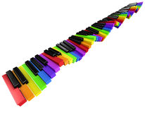3d Rippling rainbow keyboard Royalty Free Stock Image