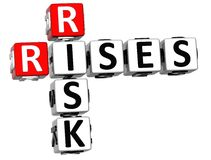 3D Rises Risk Crossword. On white background Stock Photography