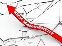 3d risicobeheer het toenemen pijl Royalty-vrije Stock Afbeeldingen
