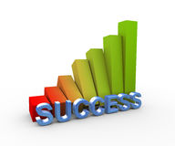 3d rising success progress bars Royalty Free Stock Photo