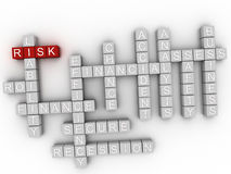 3d Risk word cloud concept Royalty Free Stock Image