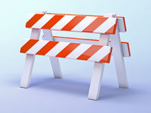 3d Roadworks barrier Stock Images