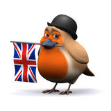 3d Robin businessman with Union Jack Stock Photography