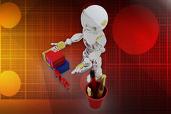 3d robot alphabets Illustration Stock Photo