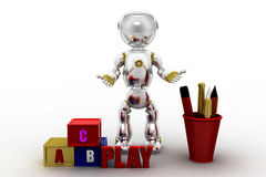 3d robot alphabets Royalty Free Stock Image