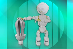 3d robot cfl illustration Royalty Free Stock Image