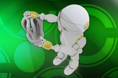 3d robot cfl illustration Royalty Free Stock Images