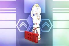 3d robot debit illustration Royalty Free Stock Photos