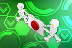 3d robot folder locked illustration Stock Photography
