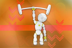 3d robot gym illustration Royalty Free Stock Photos