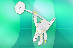 3d robot gym illustration Royalty Free Stock Image