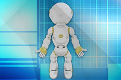 3d robot illustration Royalty Free Stock Photography