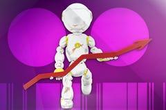 3d robot illustration Stock Image