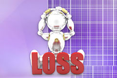 3d  robot loss illustration Royalty Free Stock Images