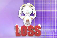 3d robot loss illustration Royalty Free Stock Photography