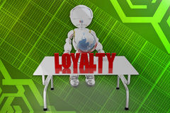 3d robot loyalty illustration Royalty Free Stock Photos
