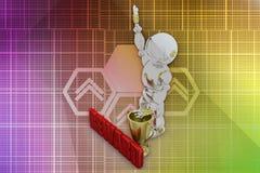 3d robot offer illustration Royalty Free Stock Photo