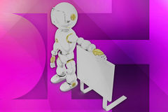 3d robot offer illustration Stock Image