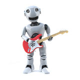 3d Robot plays electric guitar Royalty Free Stock Image
