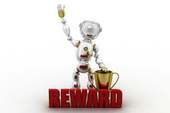 3d robot reward illustration Royalty Free Stock Image