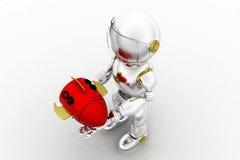 3d robot rocket concept Stock Image