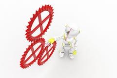 3d Robot Settingd Stock Image