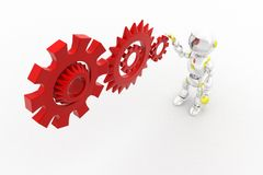 3d robot settings Stock Images