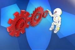 3d robot settings illustration Royalty Free Stock Image