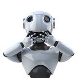 3d Robot speaks no evil Stock Image