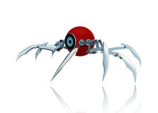 3d robot spider Stock Images