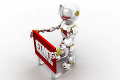 3d robot start marketing Royalty Free Stock Images