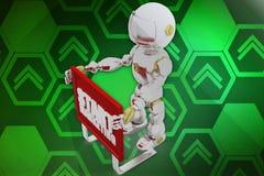 3d robot start marketing illustration Royalty Free Stock Photos