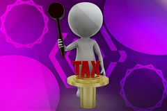 3d robot tax illustration Stock Images
