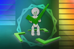 3d robot tick illustration Stock Photo