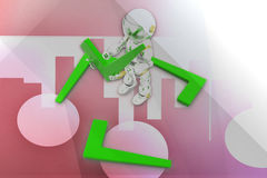 3d robot tick illustration Stock Photos