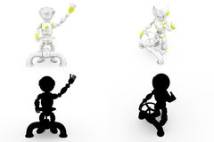 3d robot valve concept collections with alpha and shadow channel Royalty Free Stock Image