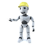 3d Robot works in construction Royalty Free Stock Photography