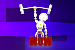 3d robot wow illustration Royalty Free Stock Photo