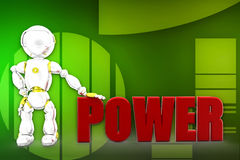 3d robots power illustration Stock Image