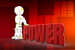 3d robots power illustration Royalty Free Stock Images