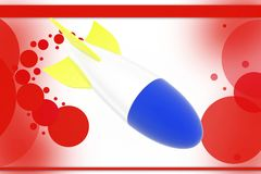 3d rocket illustration Royalty Free Stock Image