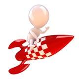 3d Rocket man Royalty Free Stock Photo