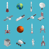 3d Rocket Space Icon Set Foto de archivo