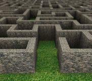 3d rocky maze Stock Image