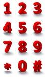 3d rode aantallen Stock Afbeelding