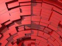 3d rode abstracte achtergrond van kubussen Stock Foto
