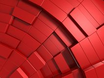 3d rode abstracte achtergrond van kubussen Stock Fotografie