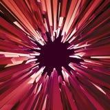 3d rode achtergrond van het kristalgat, gekristalliseerd voorwerp, abstract Cr Royalty-vrije Stock Foto's