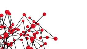 3d rode gebieden en zwarte de structuur loopable animatie van de lijnenwetenschap stock videobeelden